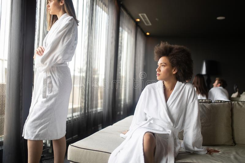 Mature Woman In A Bathrobe