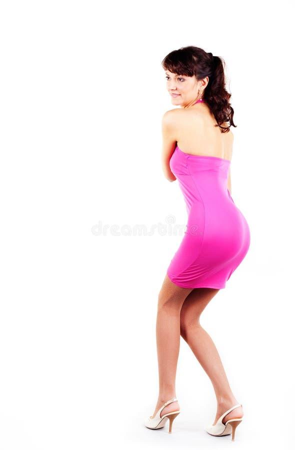 Innovative Beautiful Woman Wears Short Dress Stock Image - Image 21445783