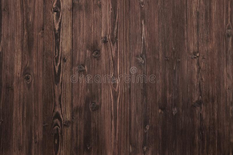 Beautiful Wood Background, Dark Brown and Aged Surface Nature Texture stock photography