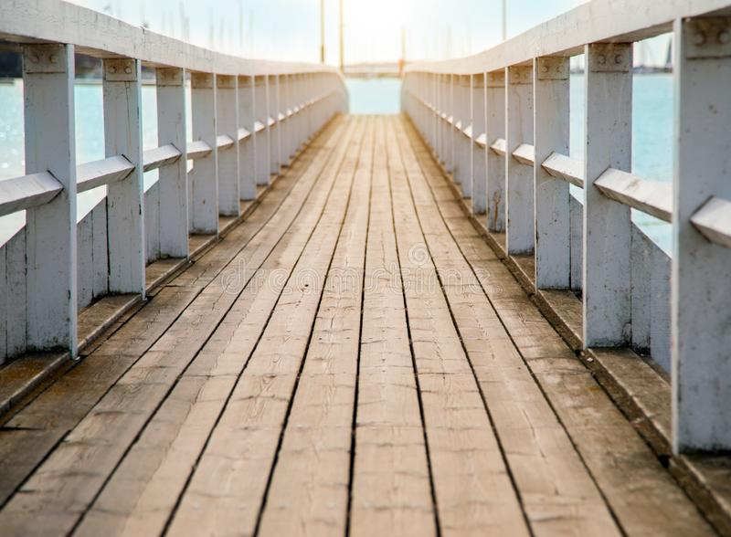 Beautiful wooden pier at sunset time. This is beautiful wooden pier at sunset time stock photography