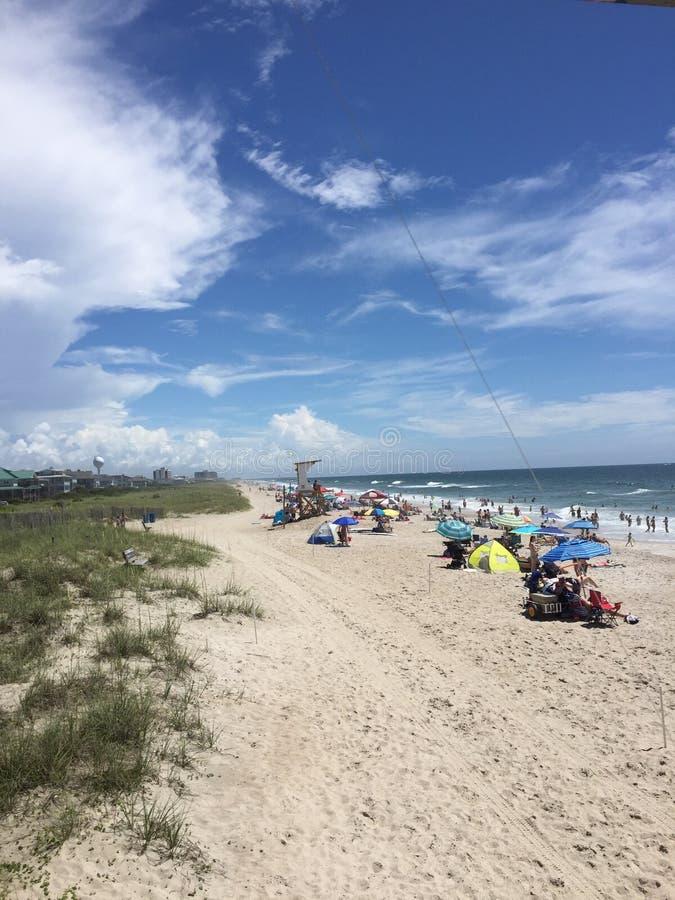 Wrightsville Beach, Wilmington, North Carolina. Beautiful Wrightsville Beach, in Wilmington royalty free stock photo
