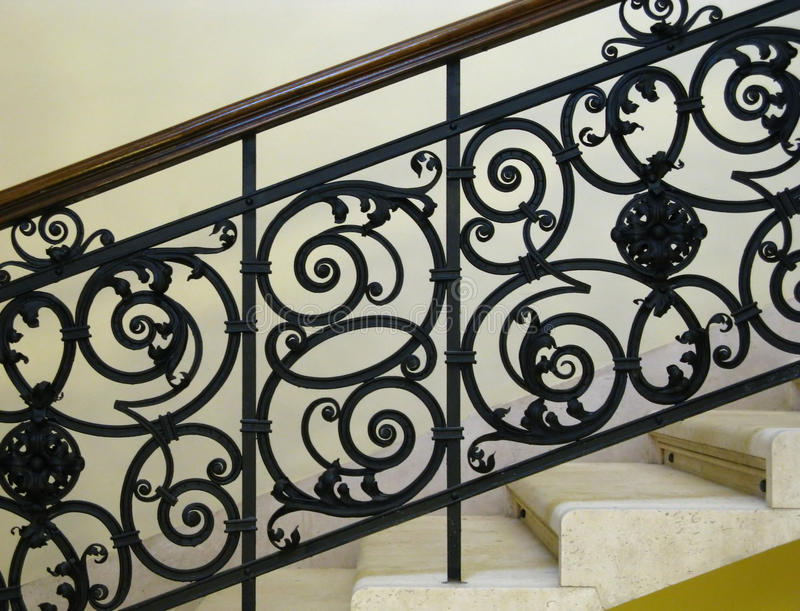 Download Beautiful Wrought-iron Railing Stock Photo - Image of stairs, steps: 11388004
