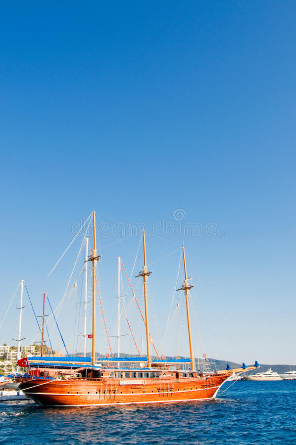 Download Beautiful Yachts At Coast Aegean Sea. Royalty Free Stock Image - Image: 20409666