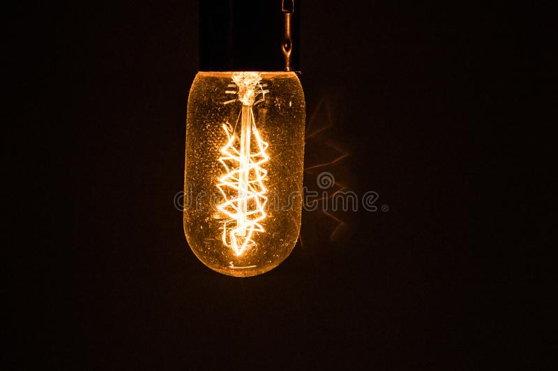 Ambient light bulbs. Beautiful yellow ambient light bulbs. Light bulbs royalty free stock image