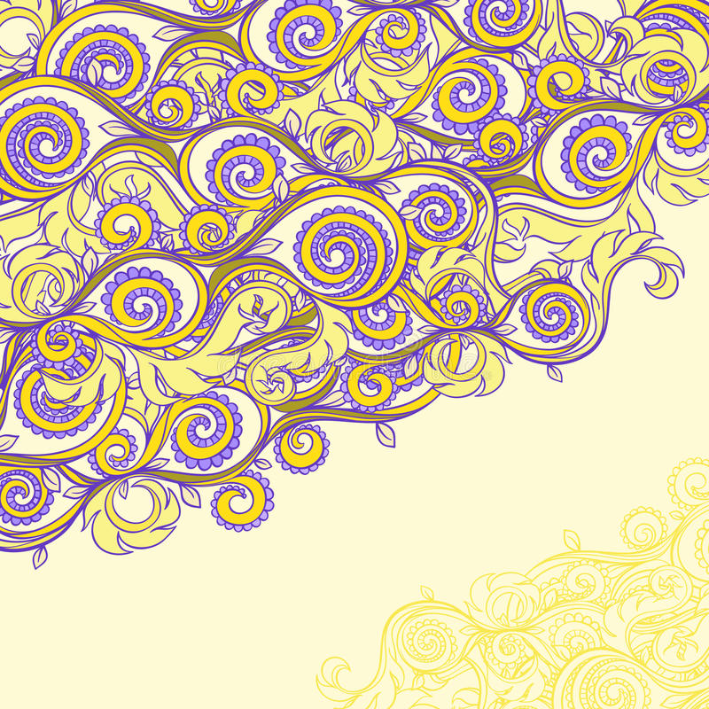 Download Beautiful Yellow And Purple Pattern Stock Photo - Image: 31905250