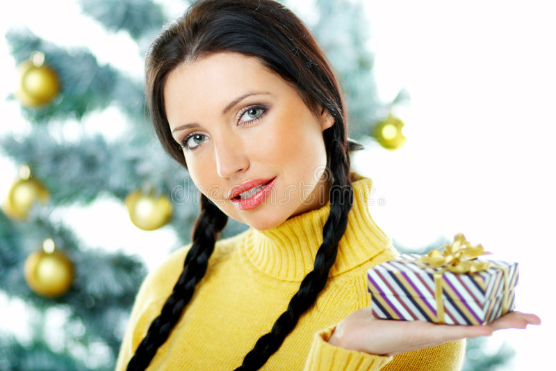 Download Beautiful Yellow Xmas stock image. Image of claus, gorgeous - 1576053