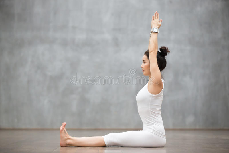 Beautiful Yoga: Dandasana, Staff pose royalty free stock photos