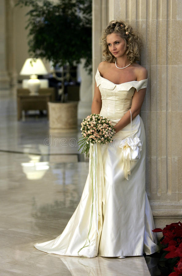 Beautiful young adult bride stock photography