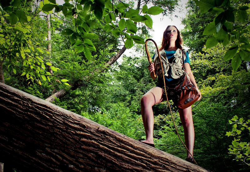 Download Beautiful Young Adventurer stock photo. Image of woman - 27250014