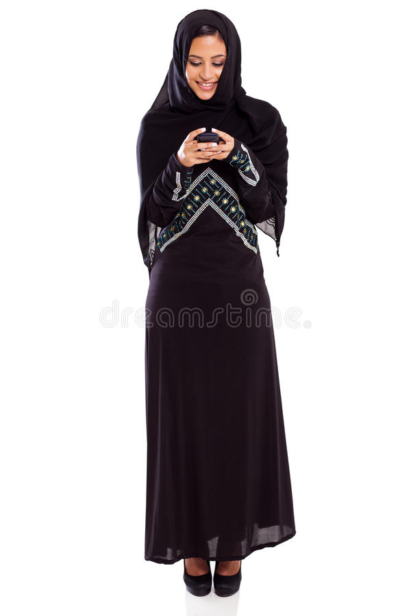 Arabian woman email stock photography