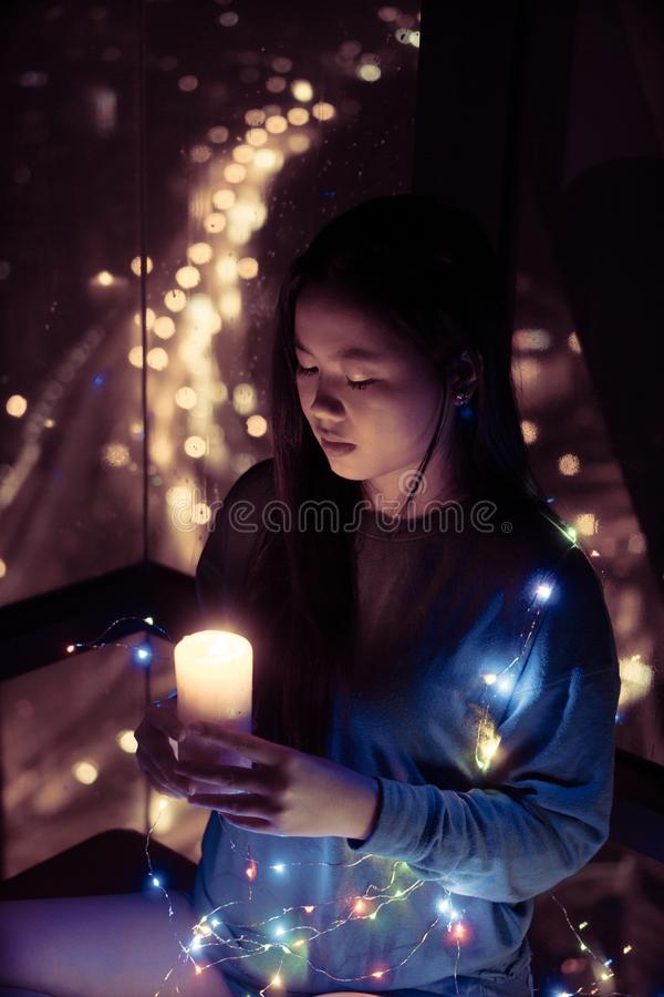 4 597 Girl Holding Candle Photos Free Royalty Free Stock Photos From Dreamstime