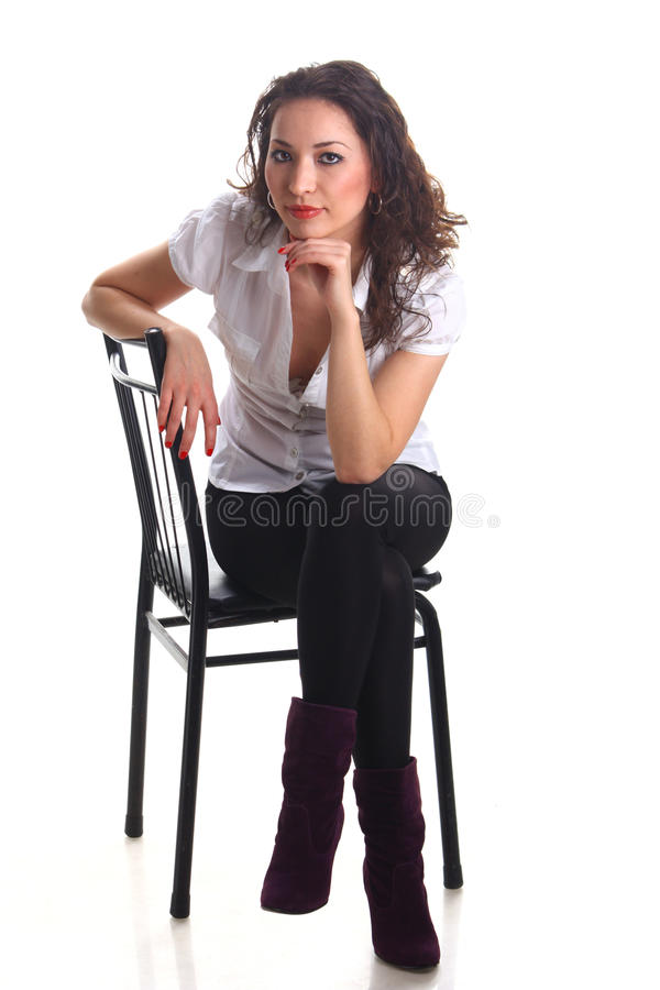 Beautiful young asian woman posing in studio stock image