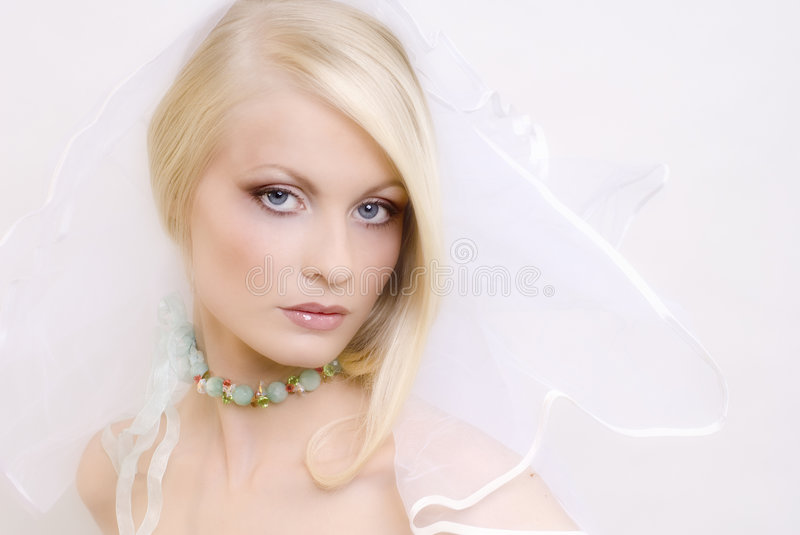 The beautiful young blonde stock photography