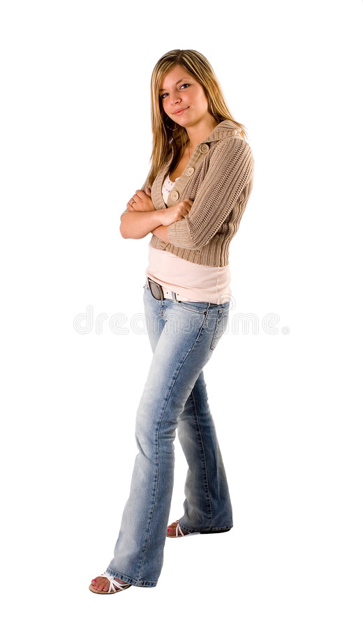 Download Beautiful Young Blonde Full Length Portrait Stock Image - Image: 857239