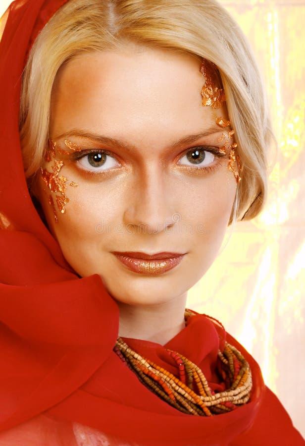Beautiful young blonde woman. Portrait. stock photo