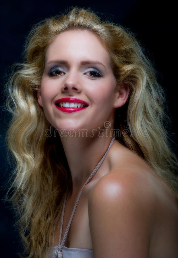 Beautiful young blone female royalty free stock images