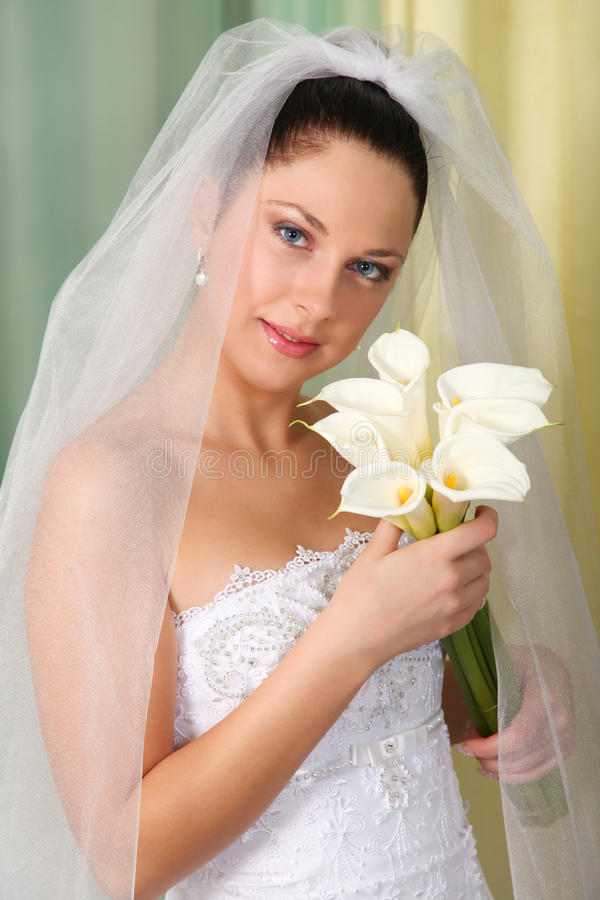 Free Beautiful Young Bride Royalty Free Stock Photos - 12470838