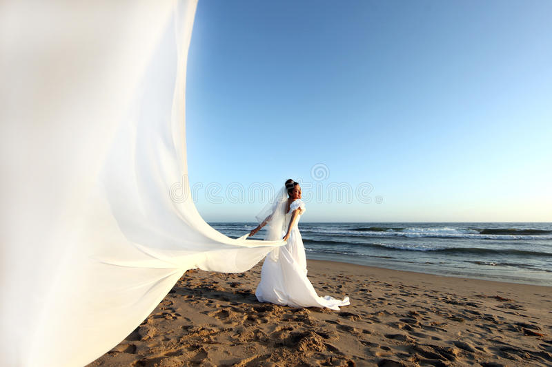Beautiful Young Bride on her Wedding Day royalty free stock photography