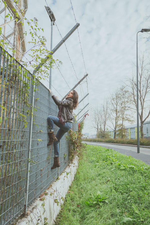 Young girl over fence showering voyeur 3