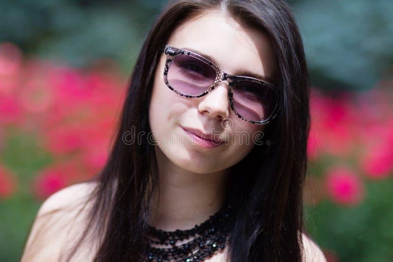 Beautiful young brunette girl stock image
