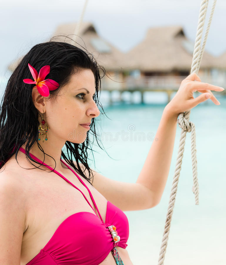 Beautiful young brunette royalty free stock photos