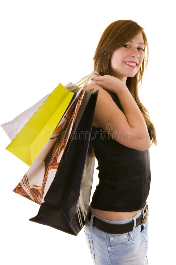 Beautiful young business lady stock image