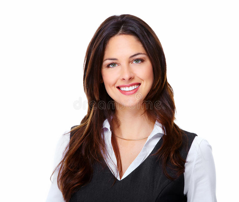 Beautiful young business woman. stock image
