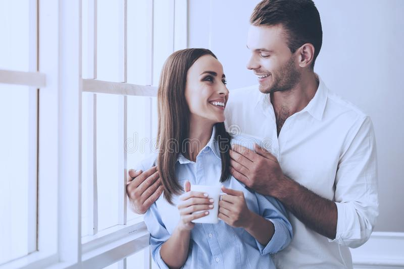 Beautiful Young Businessman and Pretty Woman stock photo