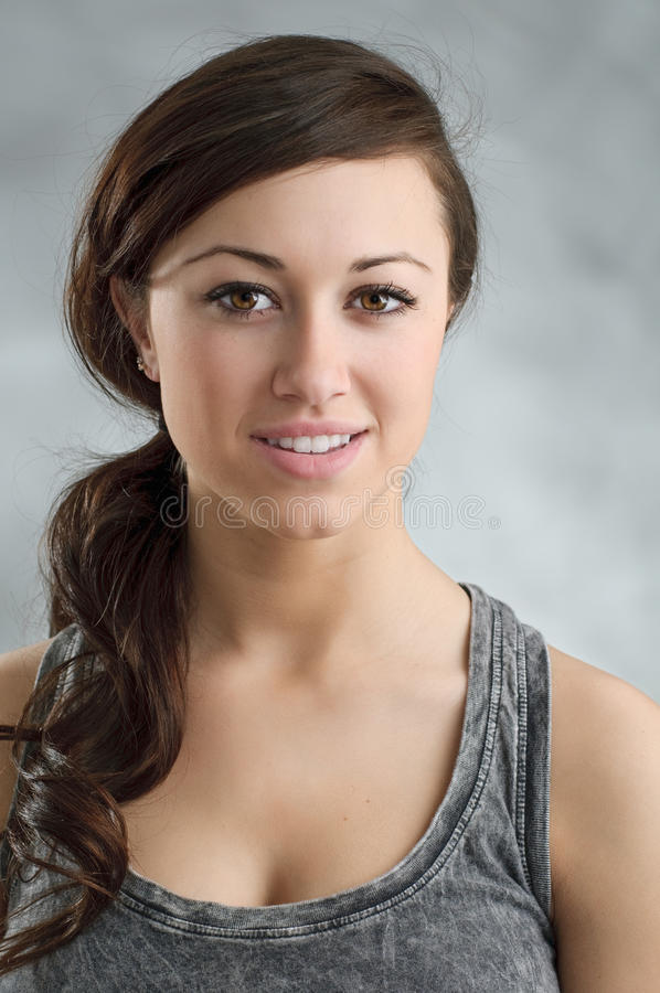 Download Beautiful Young Caucasian Woman Portrait Stock Image - Image: 30557035