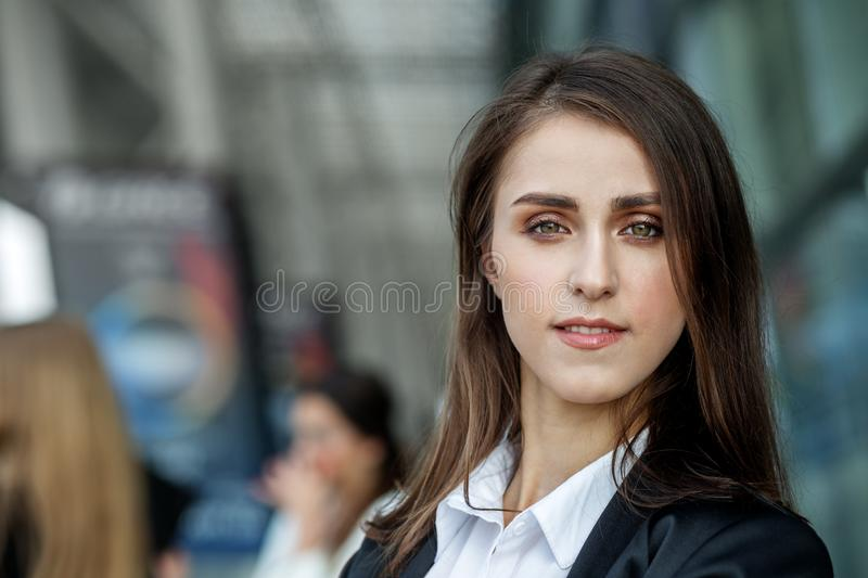 Beautiful young confident woman. Professional manager. Concept for business, work, career royalty free stock images