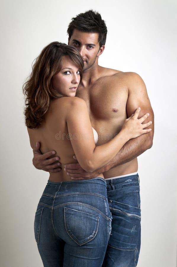 Beautiful young couple stock photos