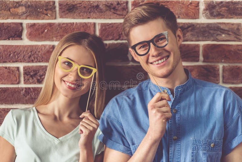 Beautiful young couple stock photography
