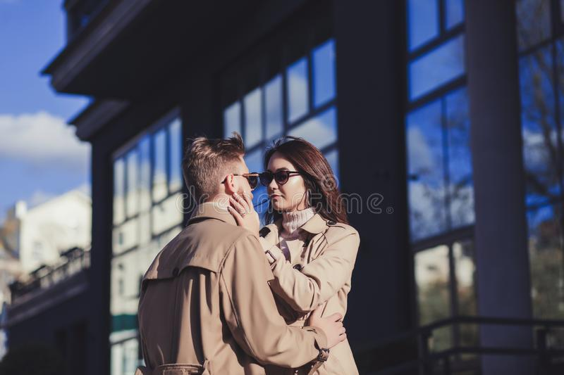 Beautiful young couple in love royalty free stock images