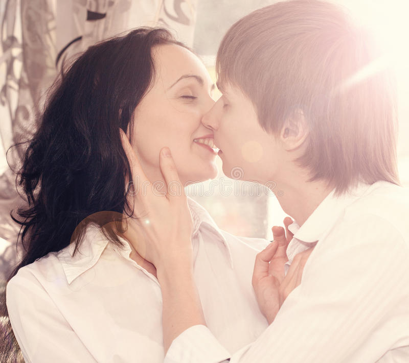 Beautiful Young Couple in Love on nature. royalty free stock photos