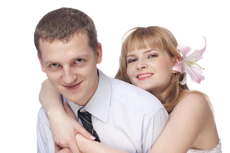 Beautiful young couple, man and woman royalty free stock photography