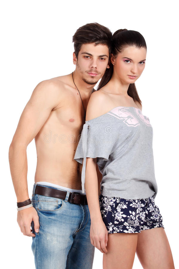 Download Beautiful Young Couple Posing Stock Image - Image: 23420073