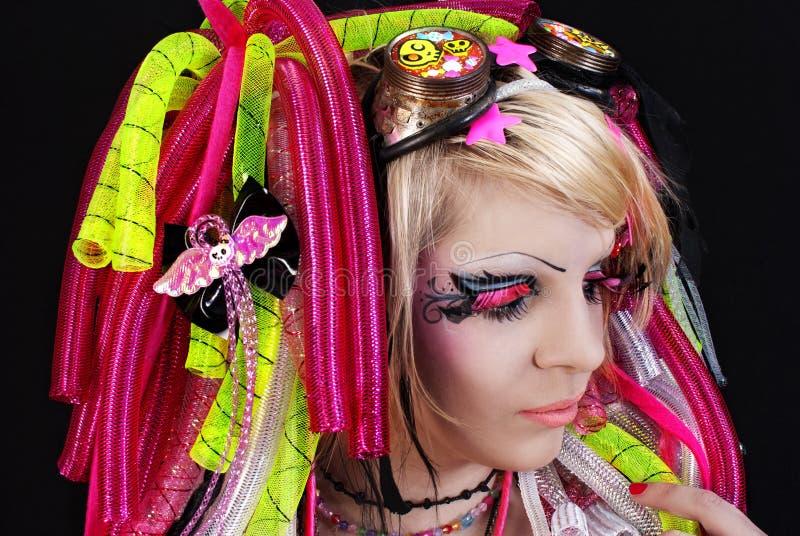Beautiful young emo girl stock photos