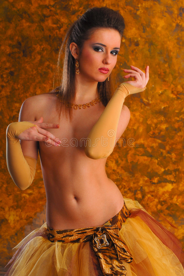 Download Beautiful Young Erotic Topless Girl Stock Photo - Image: 5425544