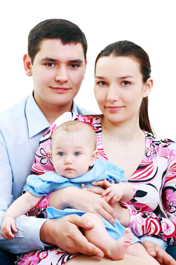 Beautiful young family royalty free stock image