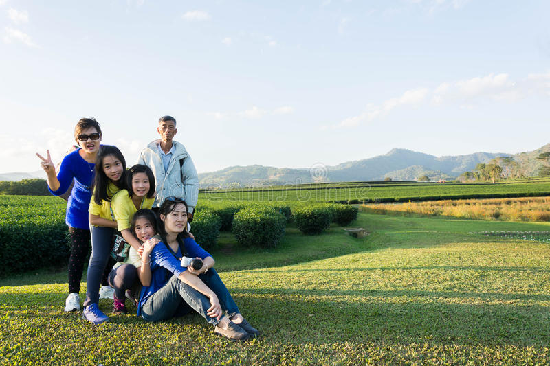 beautiful young family portrait outdoor royalty free stock photography