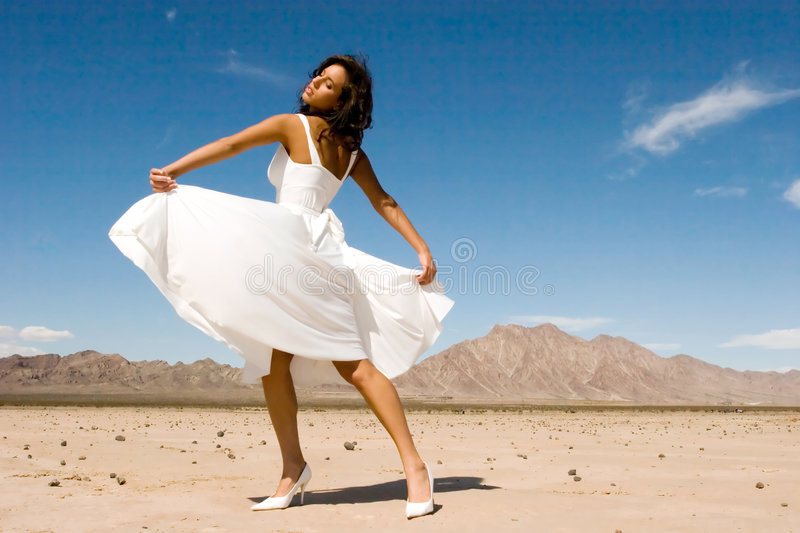 Beautiful young fashion girl stock image