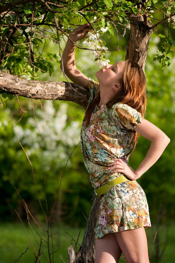 Download Beautiful Young Fashion Woman Posing Outdoor Stock Photo - Image: 18579018