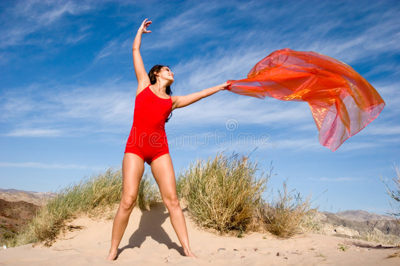 Beautiful Young Female Gymnast Royalty Free Stock Photo