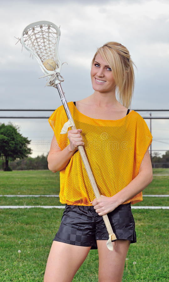 Download Beautiful Young Female Lacrosse Player Stock Image - Image: 26564725