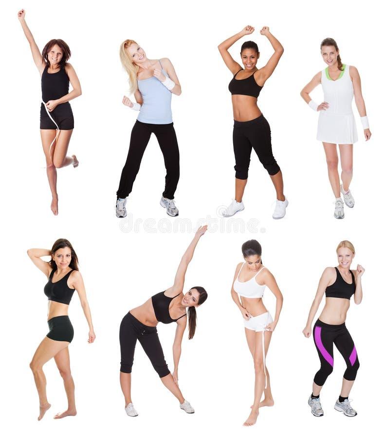 Beautiful young fitness women stock image