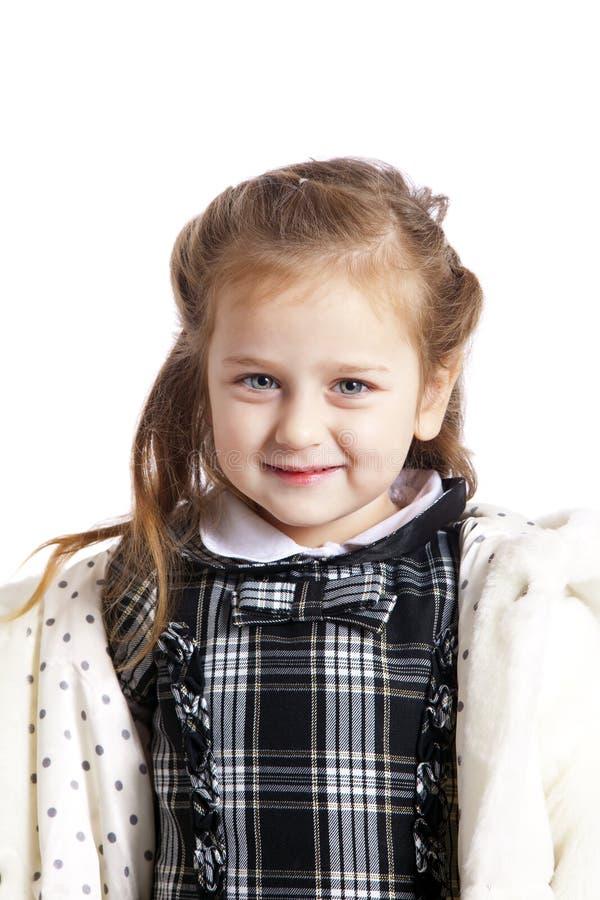 Download Beautiful young girl stock image. Image of coat, kids - 12943765