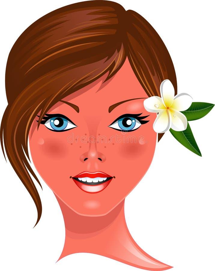Beautiful young girl stock illustration