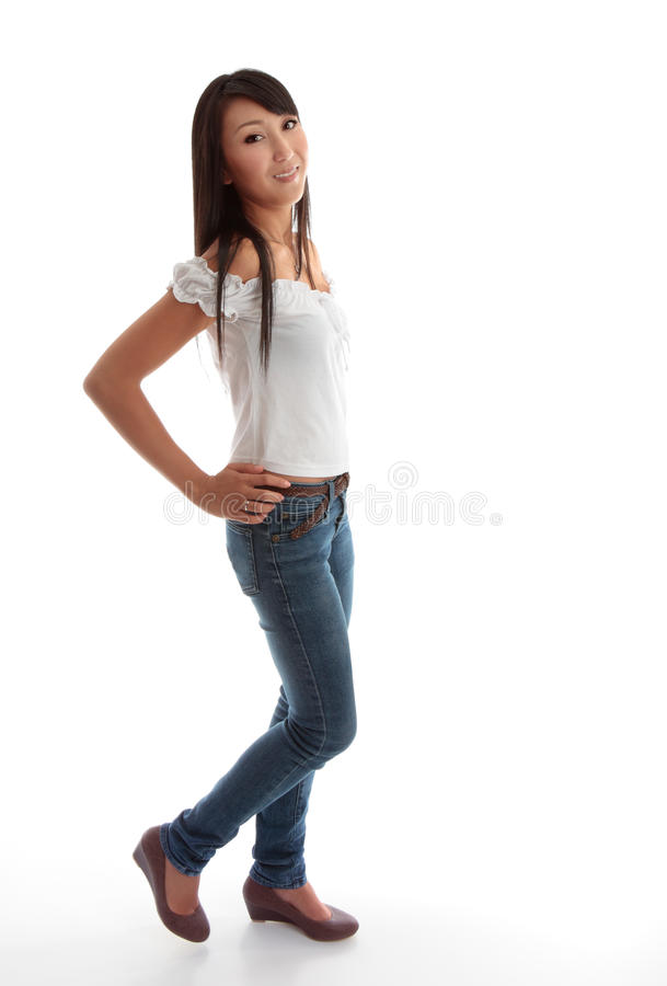 Beautiful young girl stock photography
