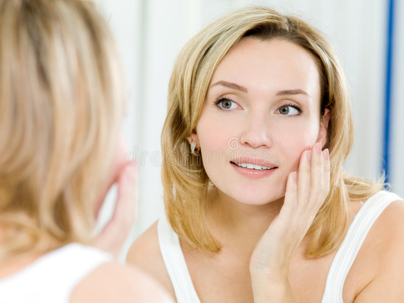Download Beautiful Young Girl With A Clean Fresh Skin Stock Image - Image: 18194447
