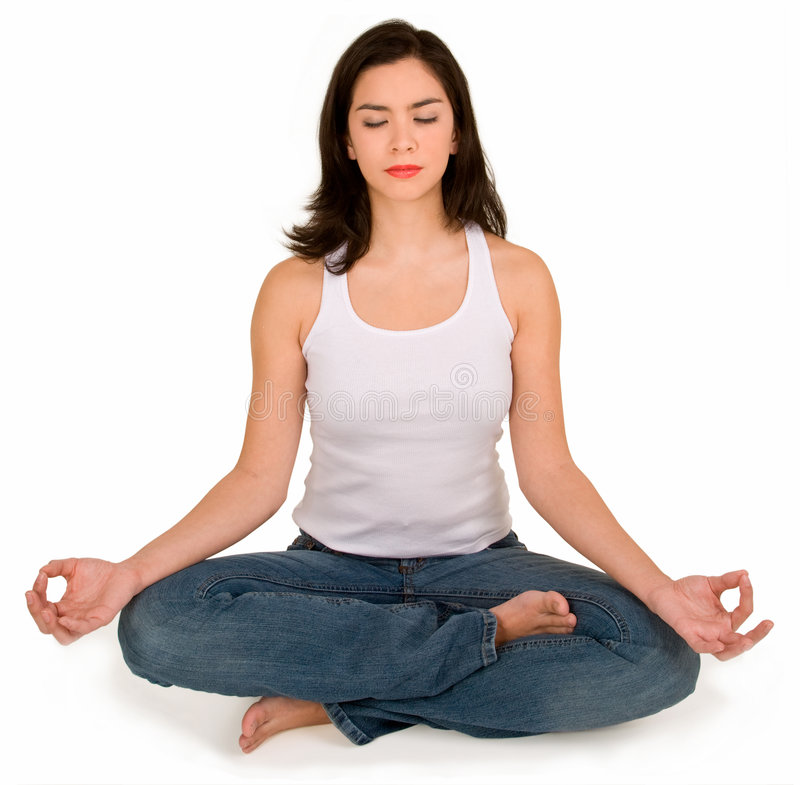 Download Beautiful Young Girl Meditating Stock Photo - Image: 3978354